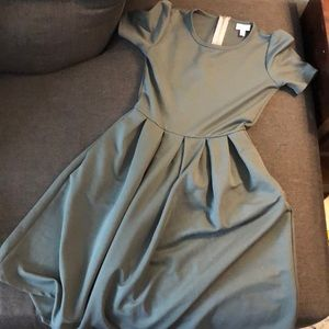 Olive green Lularoe Amelia Dress